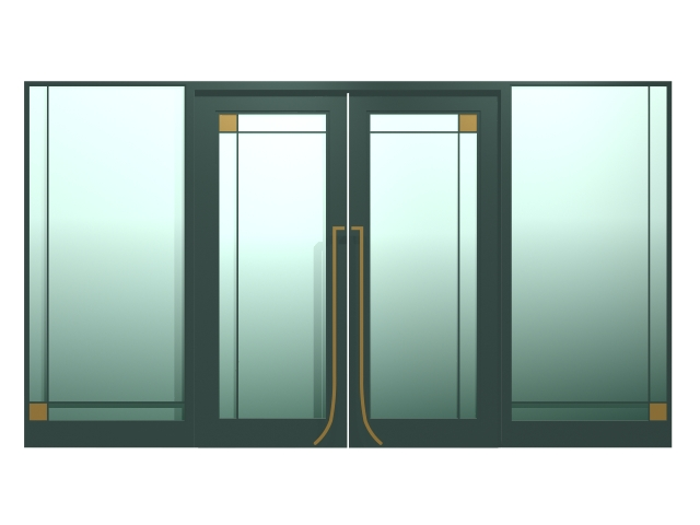 Exterior Double Glass Doors 3d Model 3dsmax Files Free Download