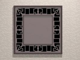 Garden lattice window design 3d model