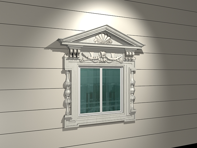 Window with decorative surround 3d model 3dsmax files free for Window 3d model