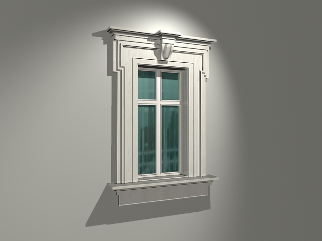 Glass window with stone surround 3d model 3dsmax files for Window 3d model