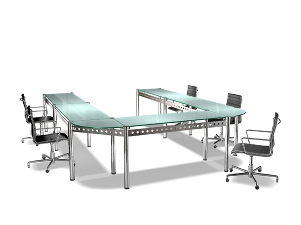 U Shaped Conference Tables Design D Model DsMax Files Free - U shaped conference table designs