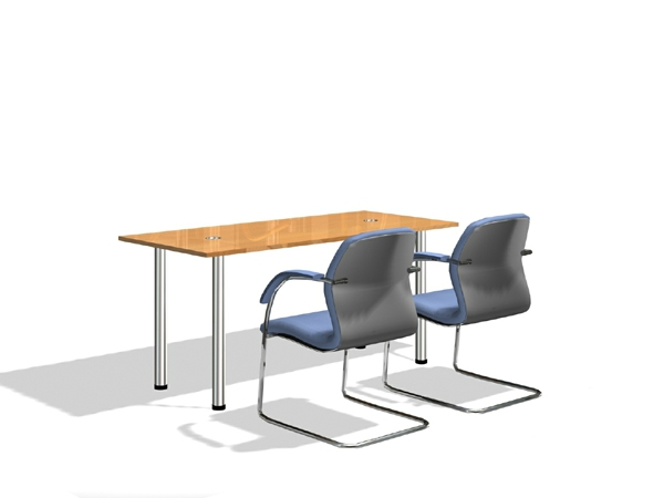 office working table. Office Working Table And Chairs 3D Model Office S