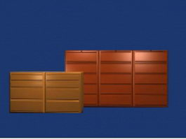 Office storage cabinets 3d model