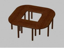 Small conference table 3d model