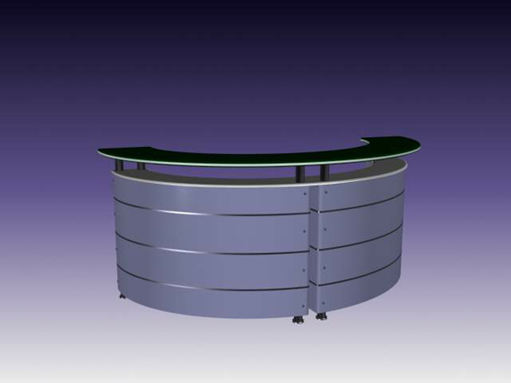 Half Round Reception Desk 3d Model 3dsmax 3ds Files Free