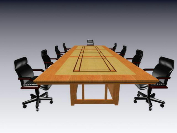 Luxury Meeting Table And Chairs 3d Model 3dsmax 3ds Files