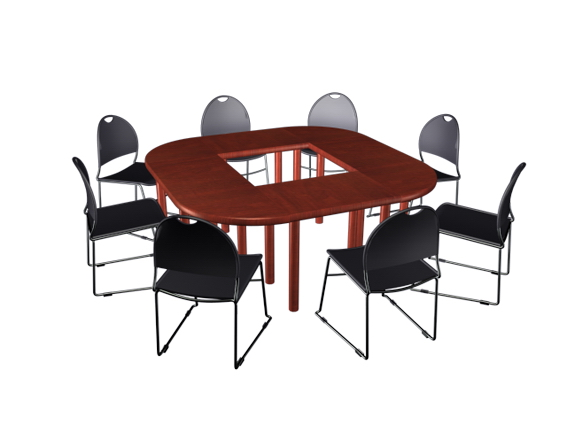 Small Meeting Table And Chairs D Model DsMaxds Files Free - Small conference table with chairs