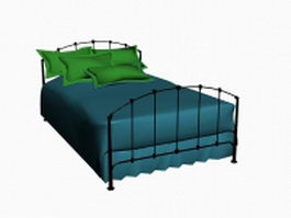 Classic iron bed 3d model