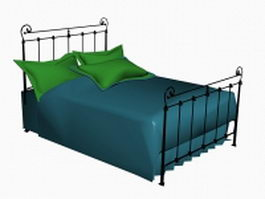 Decorative wrought iron bed 3d model