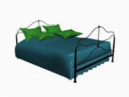 Modern iron bed 3d model