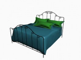 Modern wrought iron bed 3d model