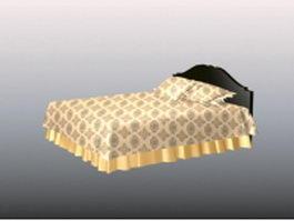 Modern platform twin bed 3d model