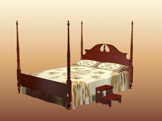 Victorian Four Poster Bed 3d Model 3dsmax Files Free