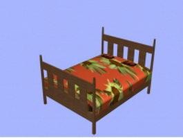 Arts and crafts bed 3d model