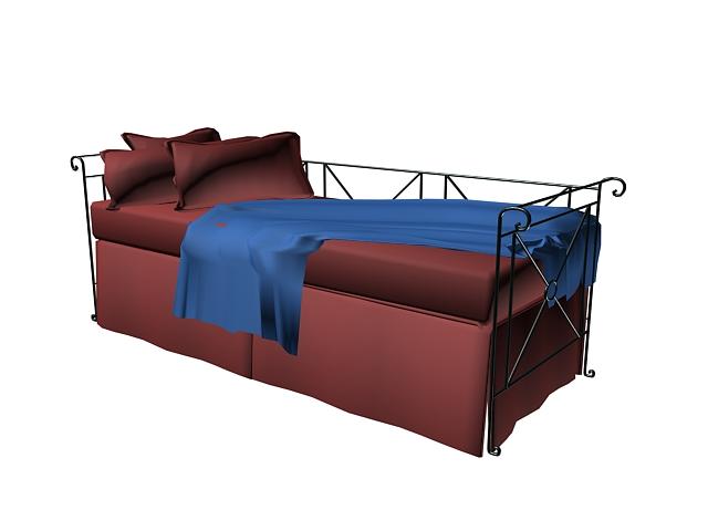 Metal sofa bed 3d model 3dsmax autocad files free download for Sofa bed 3d model