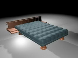 Simmons mattress bed 3d model