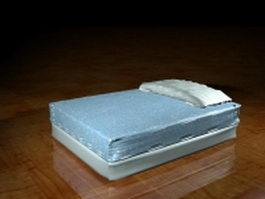 Floor style mattress bed 3d model