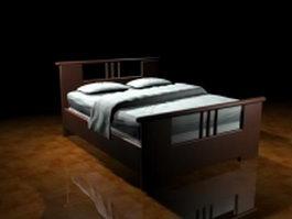Craftsman style bed 3d model