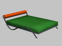 Modern metal daybed 3d model