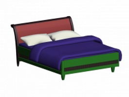 Double bed design 3d model