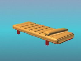 Modern leather daybed 3d model