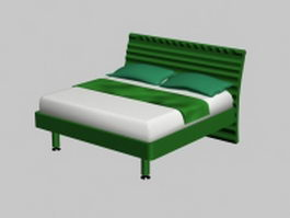 Contemporary double bed 3d model