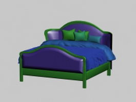 Countryside style bed 3d model