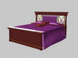 Neoclassical bed 3d model