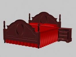New classic bed 3d model