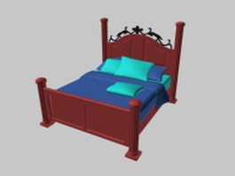 Classic twin bed 3d model