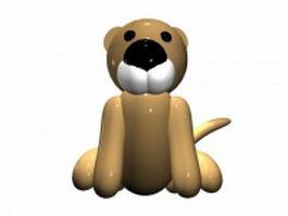Cartoon lion 3d model