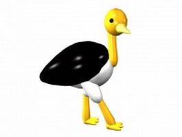 Cartoon flamingo 3d model