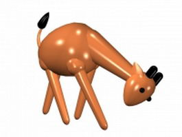 Cartoon giraffe 3d model