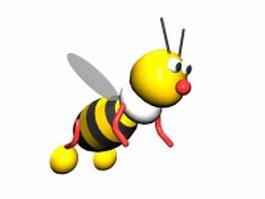 Cartoon bumble bee 3d model