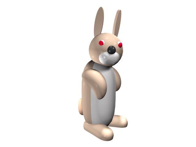 Cute cartoon rabbit 3d rendering