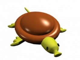 Cartoon sea turtle 3d model