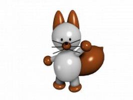 Cartoon squirrel 3d model