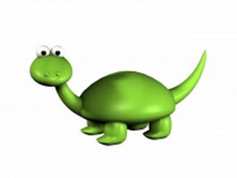 Cartoon baby dinosaur 3d model