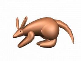 Cartoon kangaroo 3d model