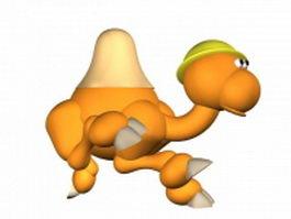 Cute cartoon camel 3d model
