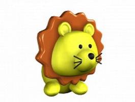 Cartoon lion king 3d model