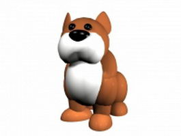 Mean cartoon dog 3d model