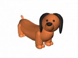 Cartoon baby dog 3d model