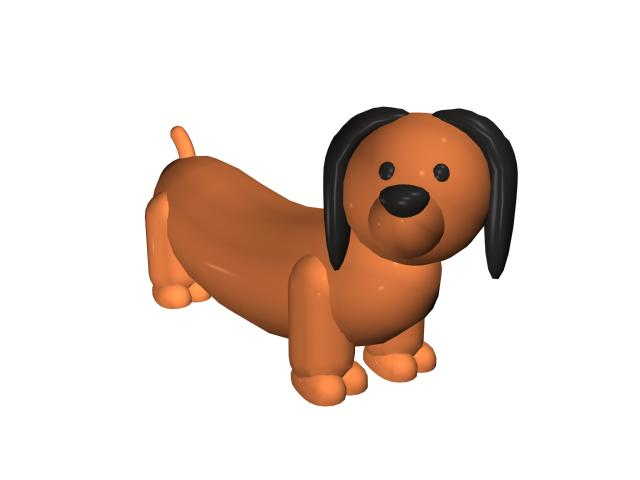 Cartoon baby dog 3d rendering
