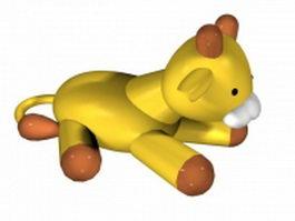 Cartoon baby lion 3d model
