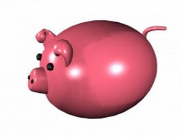 Cartoon fat pig 3d model
