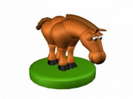 Horse cartoon character design 3d model