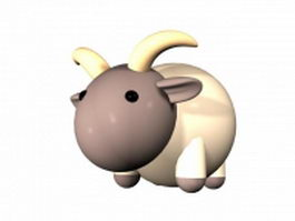 Cartoon goat 3d model