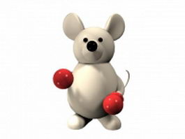 Cartoon boxing mouse 3d model