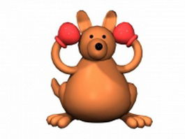 Cartoon boxing kangaroo 3d model